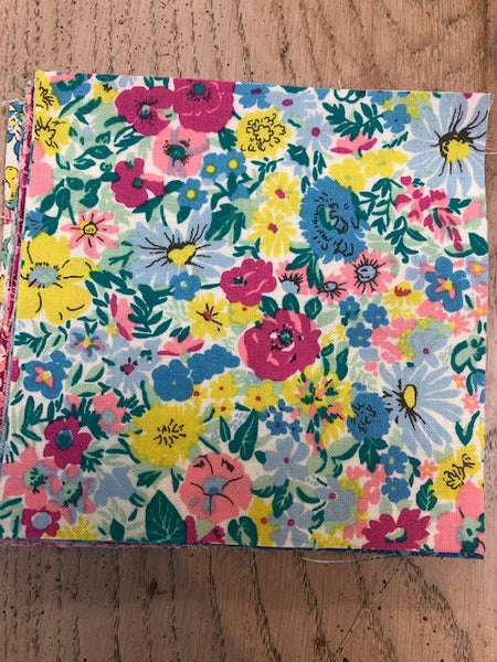 "Liberty Summer Flower Show Collection  30 x  5""x 5"" Squares Charm Pack"