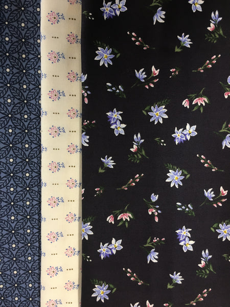 Liberty Winterbourne -   3 x Fat Quarter Pack 4