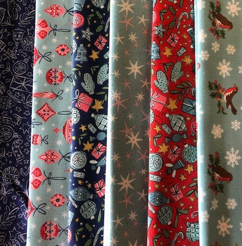 Liberty 'A Festive Collection' -   6 x Fat Quarter Pack 1