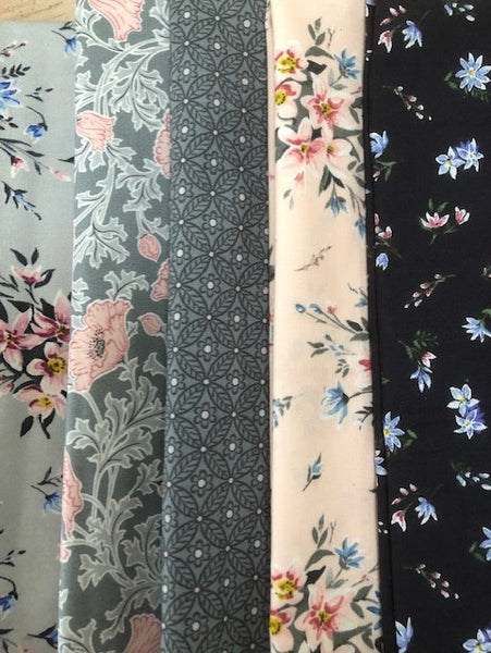 Liberty Winterbourne -   5 x Fat Quarter Pack 1