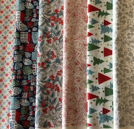 Liberty 'A Festive Collection' -   6 x Fat Quarter Pack 2