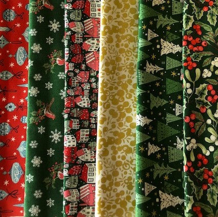 Liberty 'A Festive Collection' -   6 x Fat Quarter Pack 3