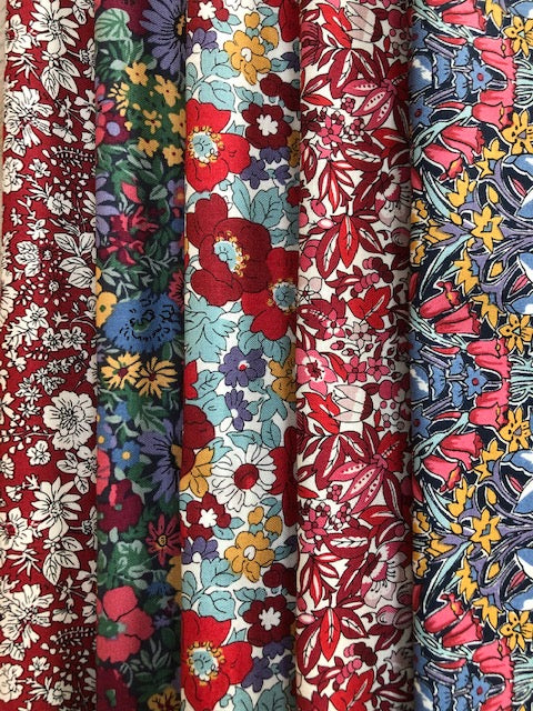 Liberty Winter Flower Show Collection  5 x Fat Quarter Pack 3