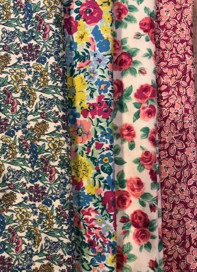 Liberty Summer Flower Show Collection  4 x Fat Quarter Pack 4