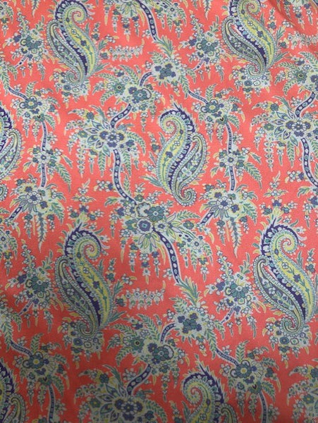 Liberty Belgravia Satin Silk - Paisley Palm