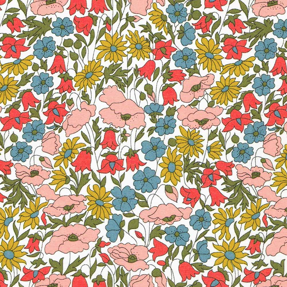 Liberty Tana Lawn - LTL03634095A - Poppy and Daisy
