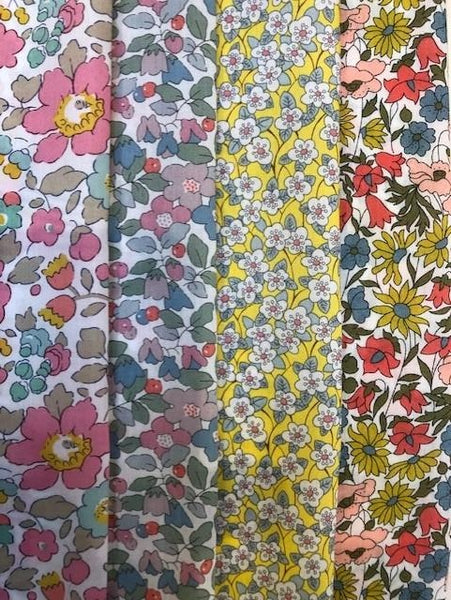 Liberty Tana Lawn - 'Pretty Florals' Pack -4 piece