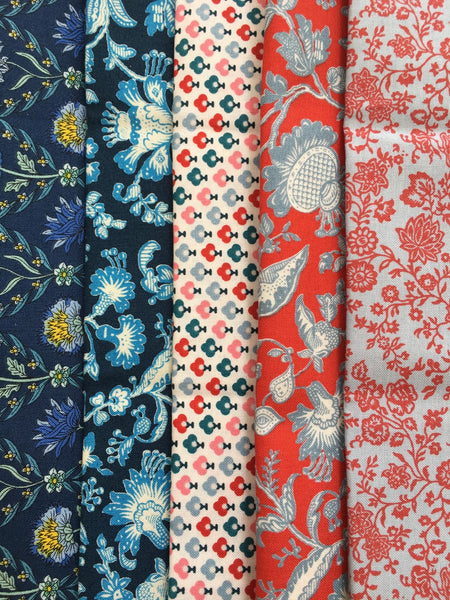 Liberty Cotton Summer House - 5 Fat Quarter Pack  1
