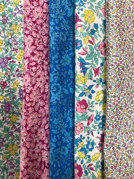 Liberty Summer Flower Show Collection  5 x Fat Quarter Pack 1