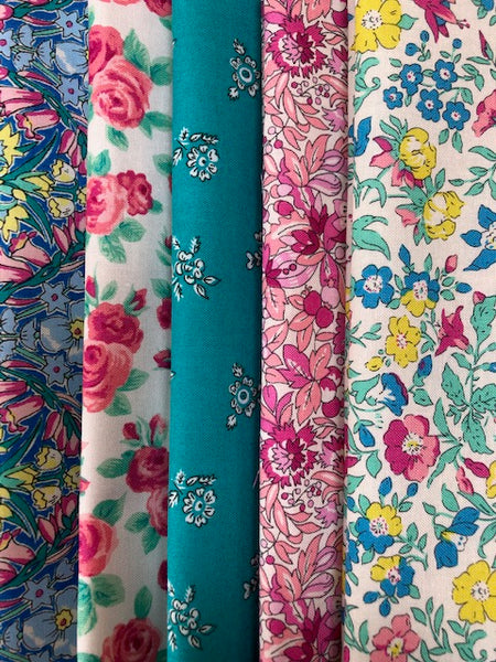 Liberty Summer Flower Show Collection  5 x Fat Quarter Pack 2