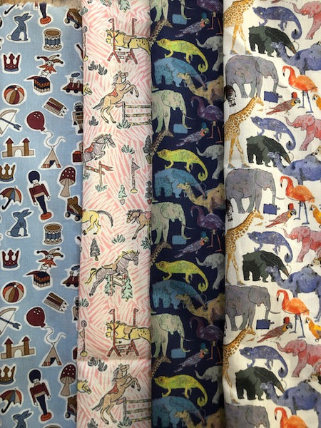 Liberty Tana Lawn - 'Toys/Zoo/Pony'' Pack -4 piece