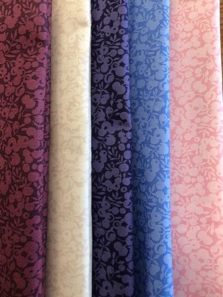 Liberty Cotton Wiltshire Shadow Collection - 5 x Fat Quarter Pack