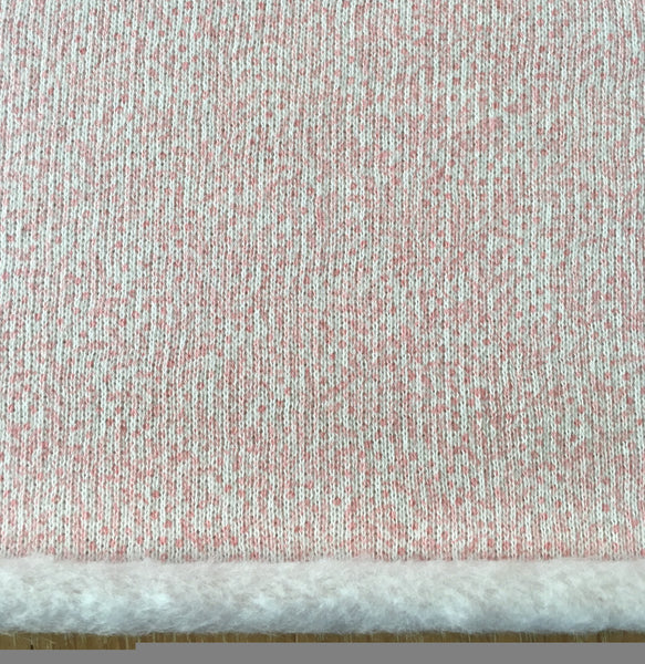 Liberty Fleece Fabric - Pale Pink design - LF03333251B