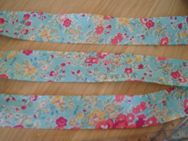 NEW - Liberty print Bias Binding - 25mm - by metre - Tatum Blue