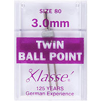 Klasse Sewing Machine Needles - TWIN UNIVERSAL - Size 80 - 3.00mm