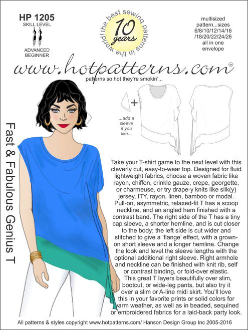 Hot Patterns 1205 - Fast & Fabulous Genius T