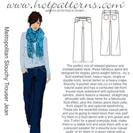 Hot Patterns 1117 - Metropolitan Slouchy Trouser Jean