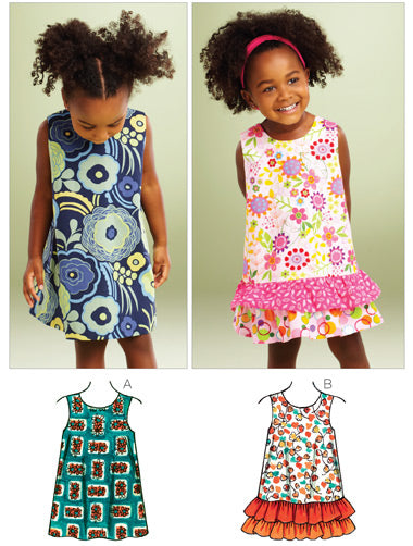 Kwik Sew 3864 - Toddlers' A-line Dresses