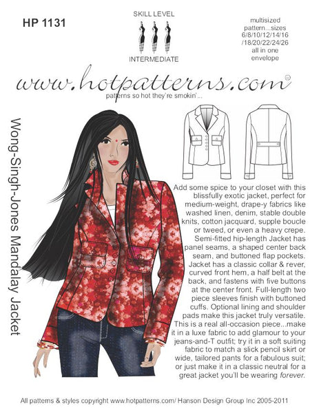 Hot Patterns 1131 - Wong-Singh-Jones Mandalay Jacket