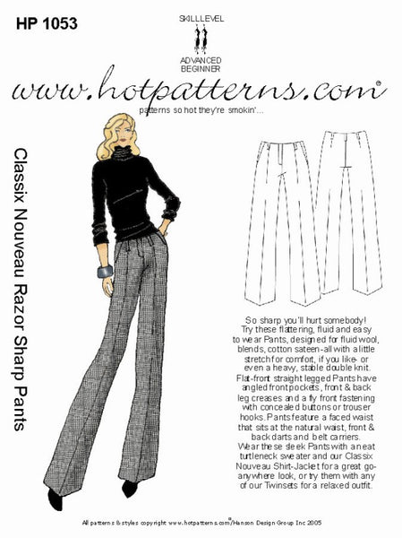 Hot Patterns 1053 - Classix Nouveau Razor Sharp Pants (Special Edition)