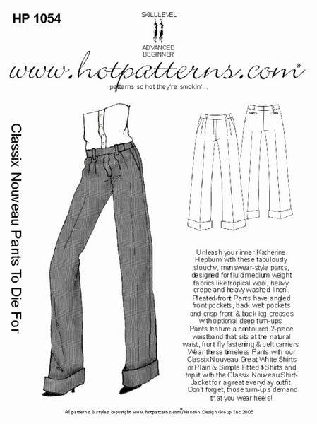 Hot Patterns 1054 - Classix Nouveau Pants To Die For