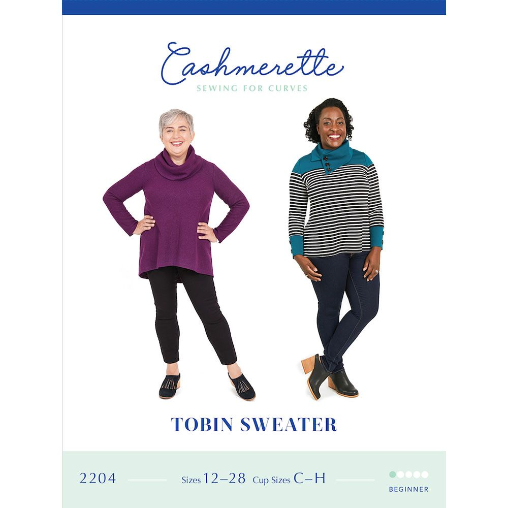 Cashmerette Tobin Sweater - UK Sizes 16 - 32