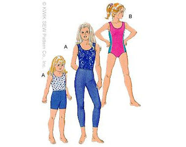 Kwik Sew 2724 - Girls' Leotards, Leggings & Shorts