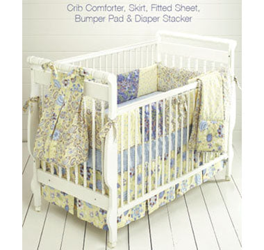 Kwik Sew 3685 - Crafts: Crib Comforter, Skirt, Fitted Sheet, Bumper Pad & Diaper Stacker