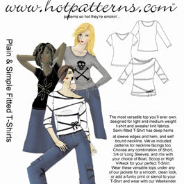 Hot Patterns 1049 - Plain & Simple Fitted T-Shirts