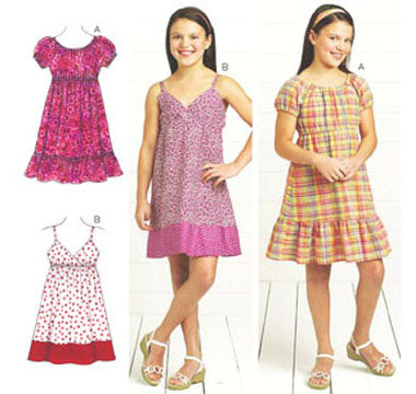 Kwik Sew 3674 - Girls' Dresses