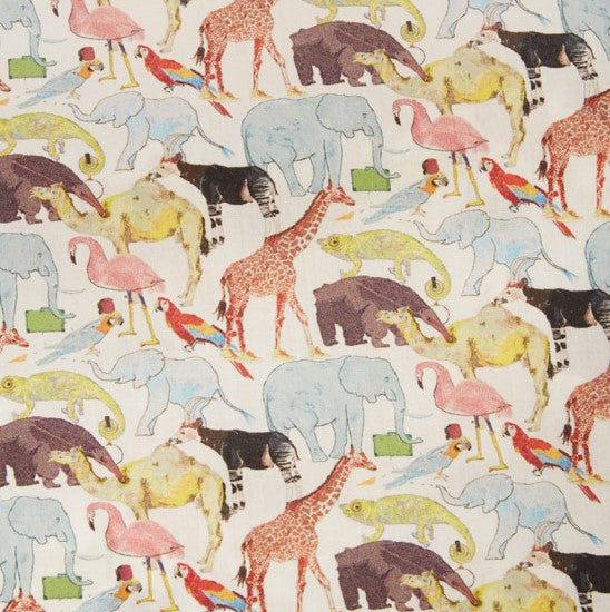 Liberty Tana Lawn - LTL03634160F - Queue for the Zoo - NEW