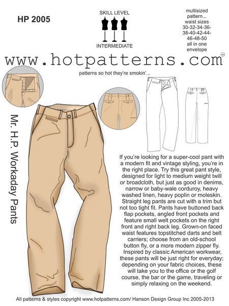 Hot Patterns - Mr. H.P. Workaday Pants - 2005