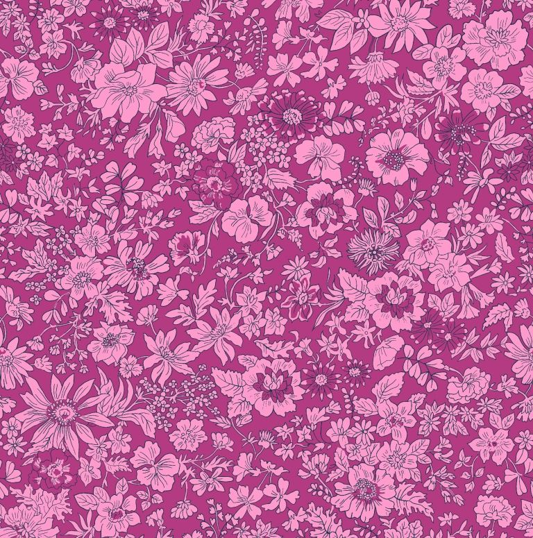 Liberty - Summer Flower Show Collection - Emily Silhouette Pink 04775719D