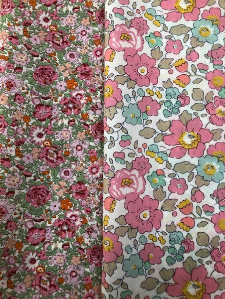 Liberty Tana Lawn - 'Pretty Pinks Mix' 2 pack
