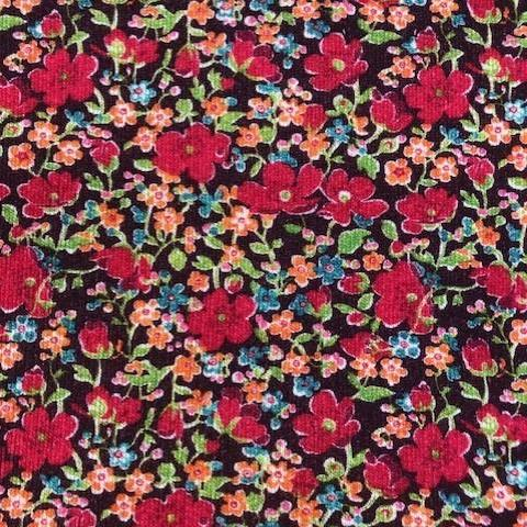 Liberty Lindford Fleece Fabric - John (red)- LF03335256B