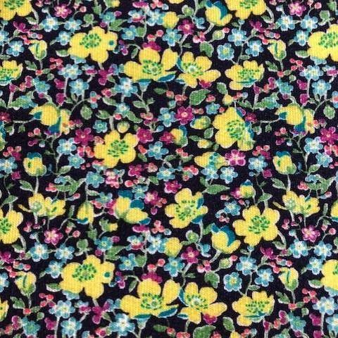 Liberty Lindford Fleece Fabric - John (yellow)- LF03335256A