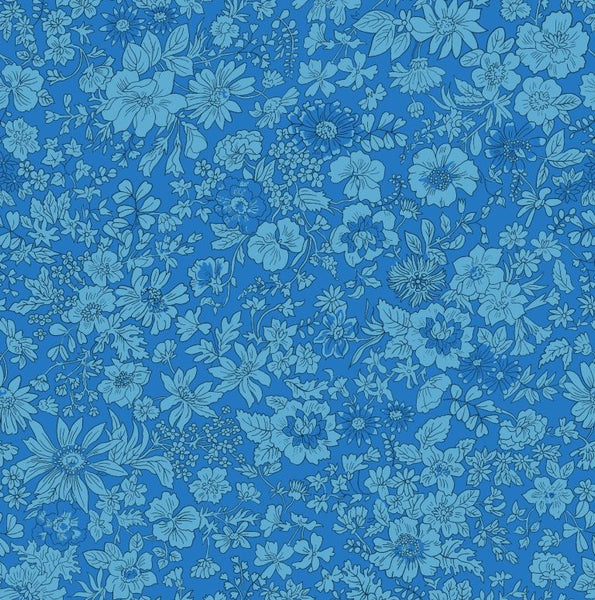 Liberty - Summer Flower Show Collection - Emily Silhouette Blue 04775719C