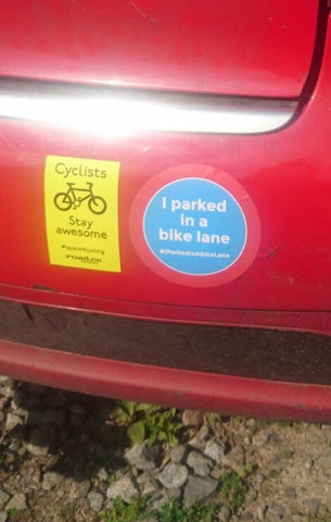#IParkedInABikeLane Stickers