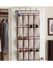 Honey Can Do 16 Pocket Over the Door Shoe Organizer