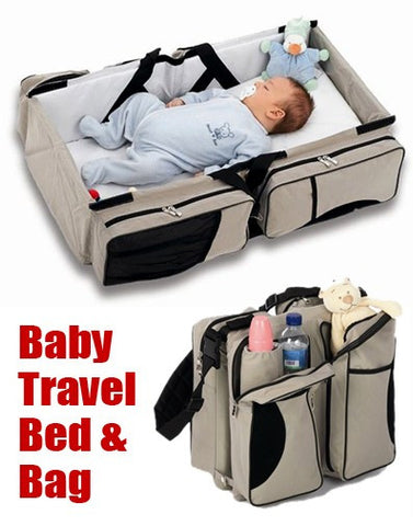 2 in 1 Baby Travel Bed & Bag
