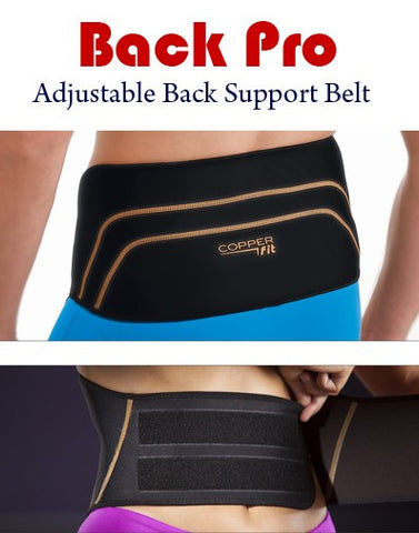 Back Pro Support Belt - Adjustable Size Fits from Small - XXL
