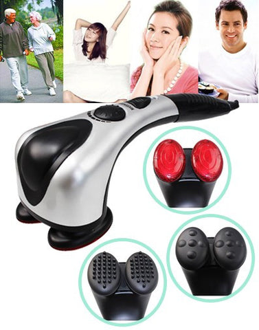 Double Head Heating Massager - 1 Yr Warranty