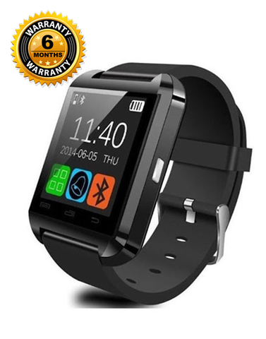 Fitmate U8 Smart Watch - Black