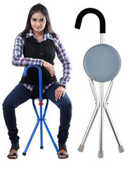Foldable Walking Stick Chair