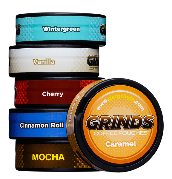 Grinds Coffee Pouches, Chewing Tobacco Alternative – Grinds