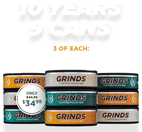 Grinds Coffee Pouches, Chewing Tobacco Alternative – Grinds Coffee