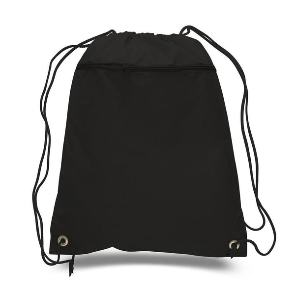 Grinds Black Drawstring Bag