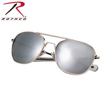Sunglasses - GI Type Aviator Sunglasses - Bk/Smoke Polarized