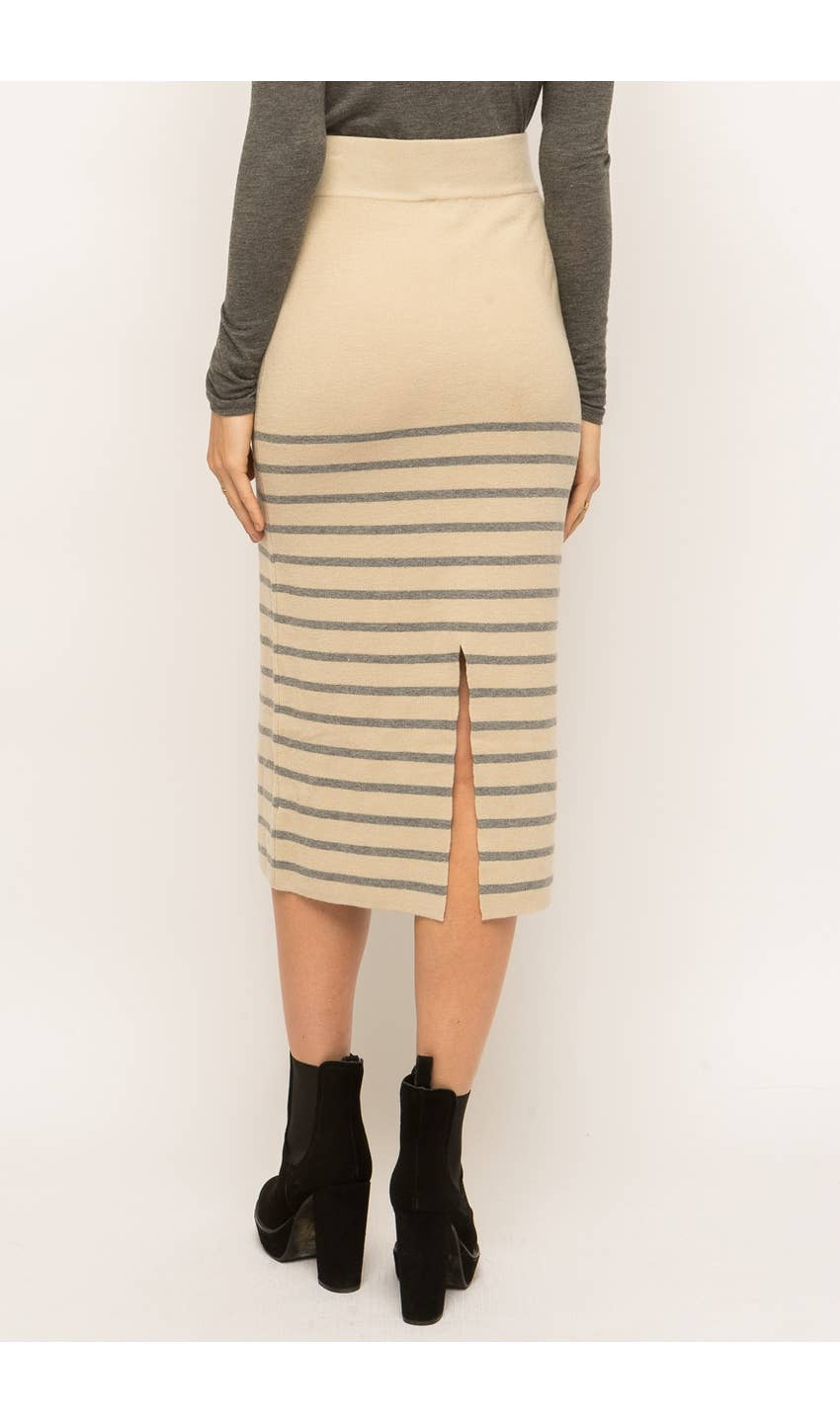 Midi Sweater Skirt - Stone