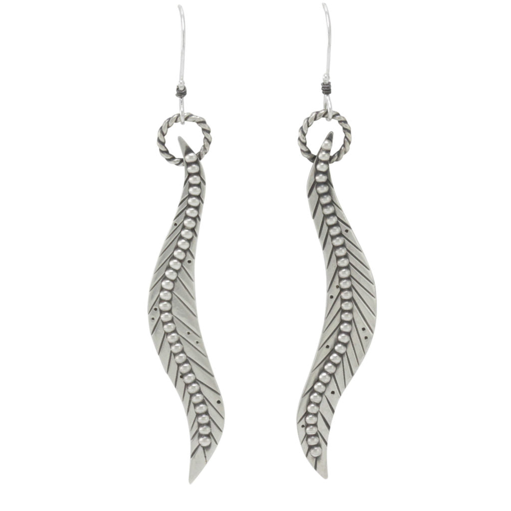 Curved Feather Earrings